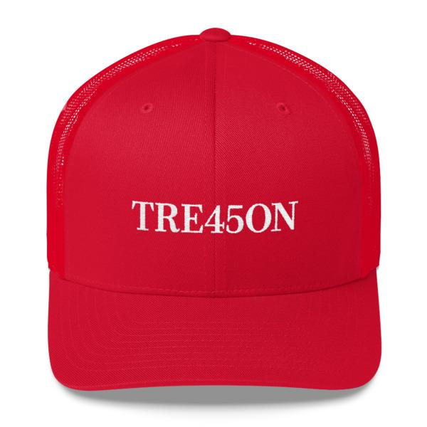 TRE45ON - Donald Trump Treason Trucker Hat - Politicoup c33718bb549